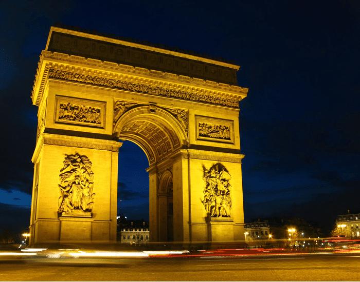 Viajes a Paris El Arco del Triunfo