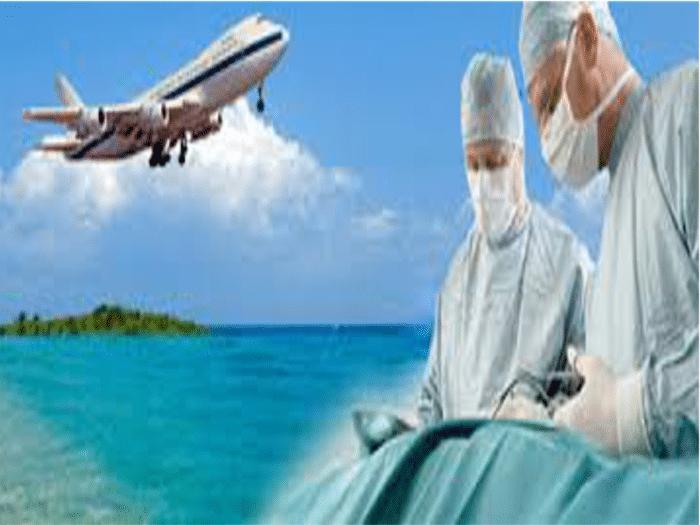 Turista en viaje de salud