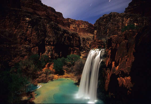Cascadas turquesa