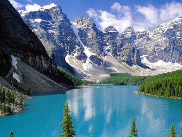 Una de las maravillosas vistas del Parque Nacional Banff