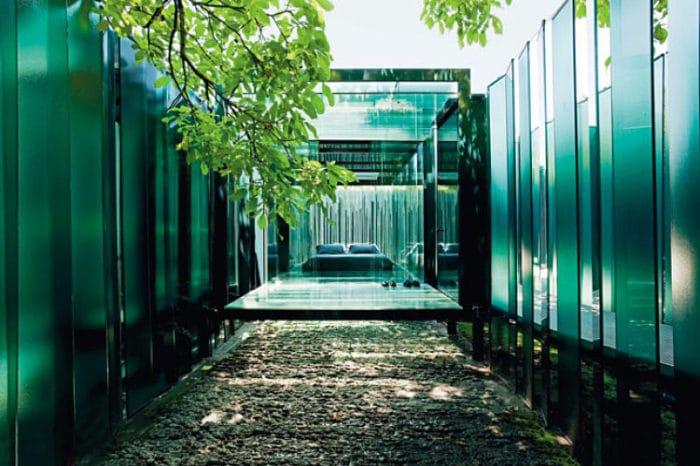 La mágica vista de este extravagante diseño de Cols Pavilion