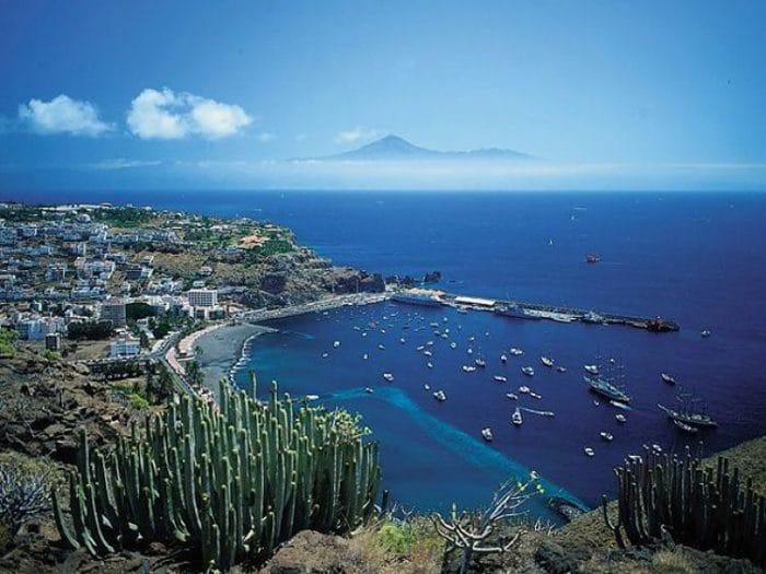 Vista panorámica de la Isla La Gomera