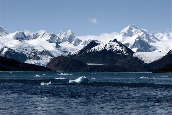 Imponente vista del paisaje de los Glaciares