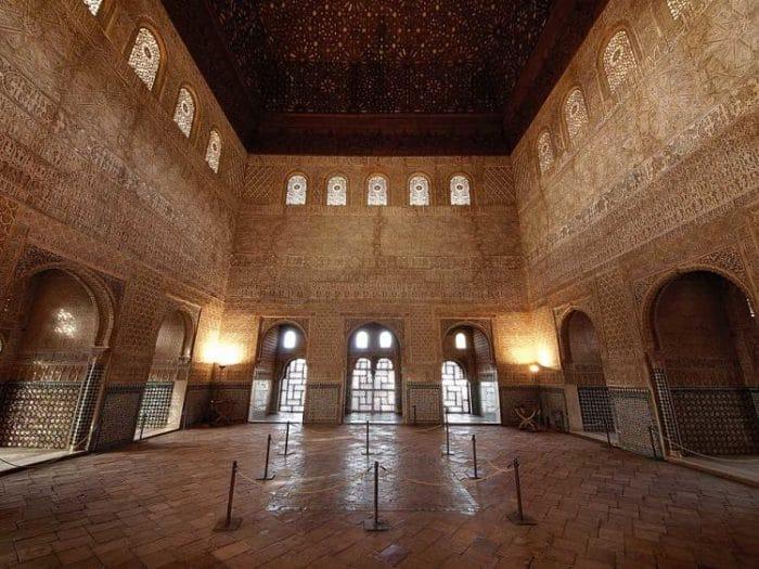 Vista central del Salón y su extraordinaria decoración
