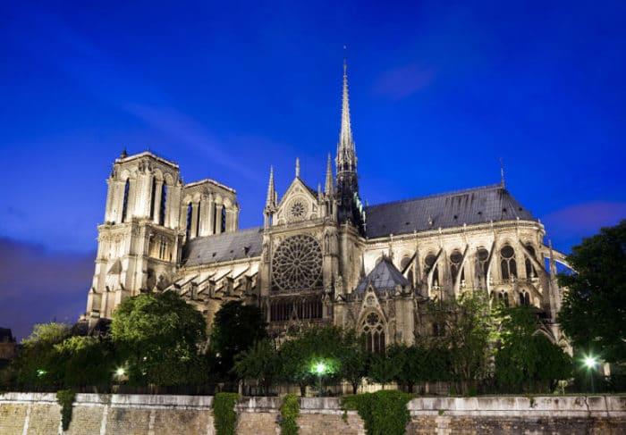 Vista panorámica de Notre Dame de París