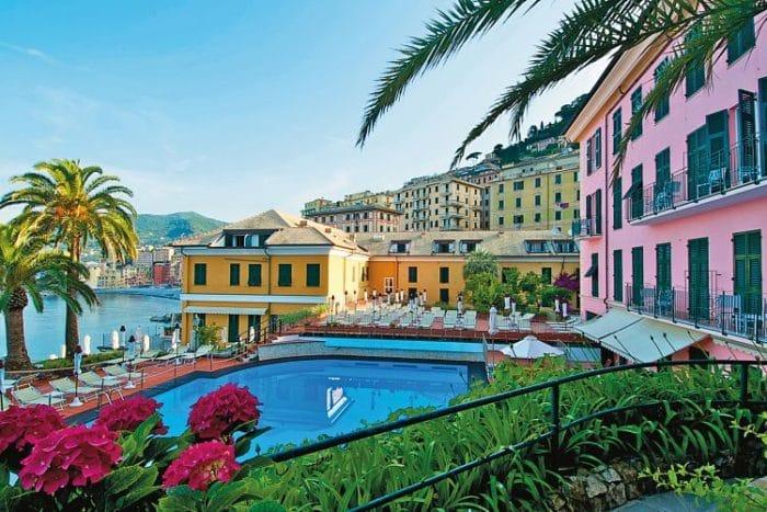 Una de las espectaculares vistas del puerto de Camogli