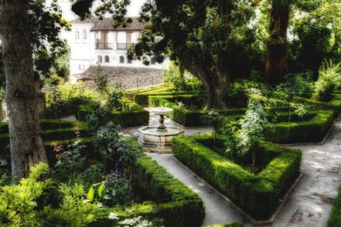 Parte de los Jardines Altos del Generalife