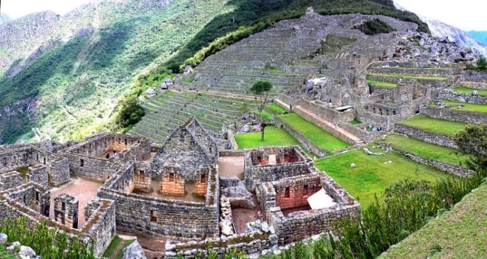 En esta vista aérea vemos el complejo arqueológico Machu Picchu