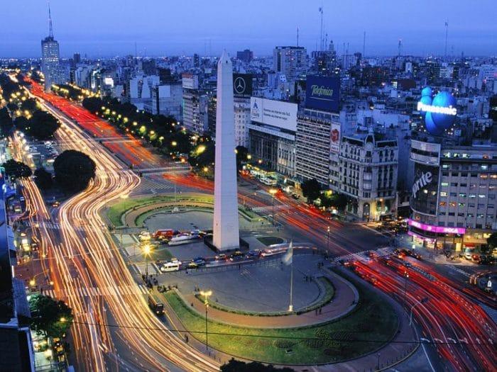 Vista aérea de parte de Buenos Aires