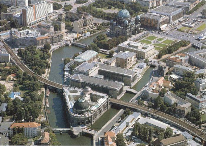 Vista aérea de la Isla de los Museos