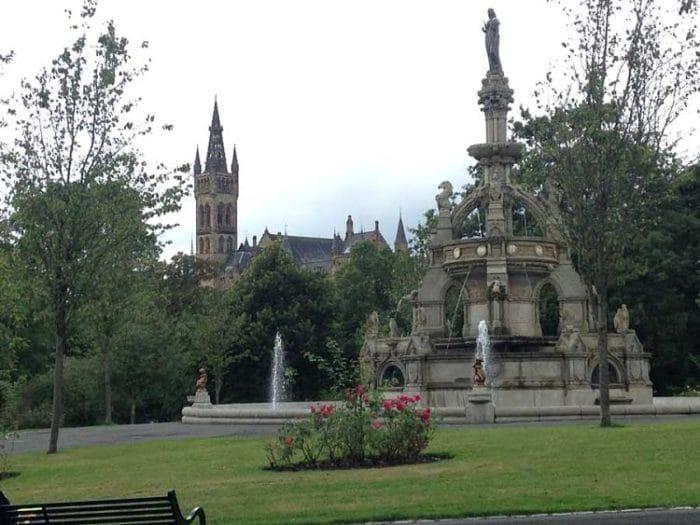 Fuente Memorial Stewart en el Parque Kelvingrove