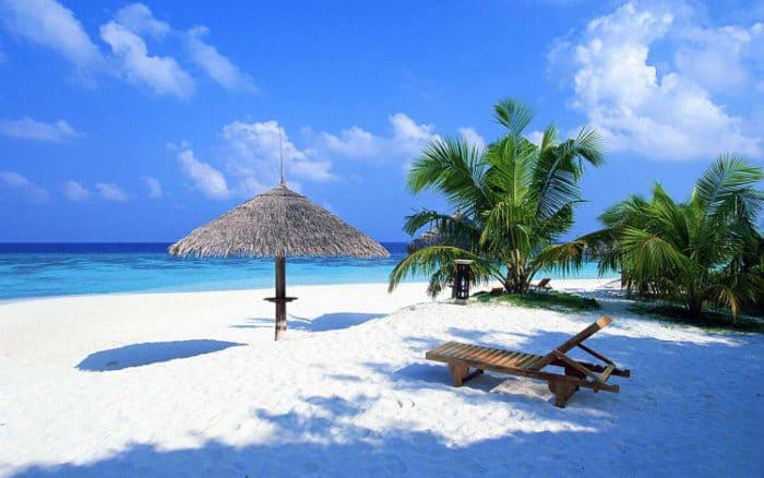 Hermosa playa de las costas de México