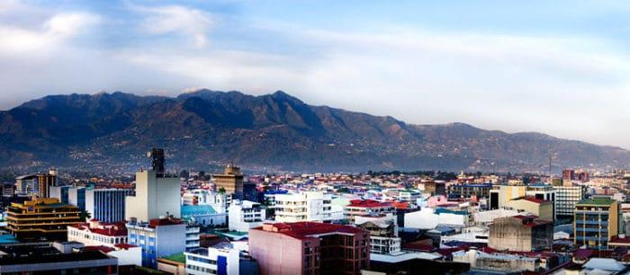 Vista panorámica de la ciudad de San José de Costa Rica
