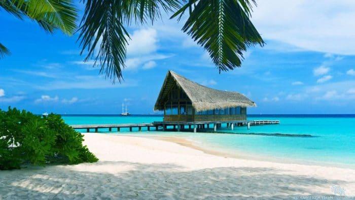 Paradisíaca playa de Bahamas