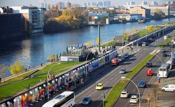 Vista de una sección del Muro de Berlín en la actualidad