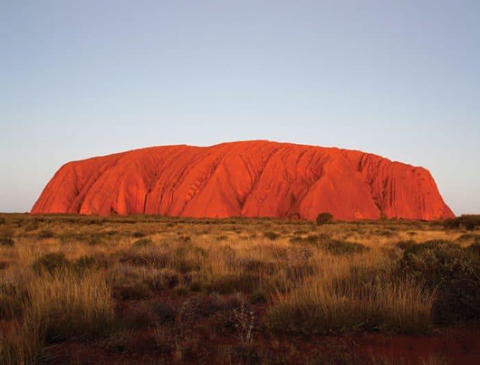 El imponente rojo de Uluru