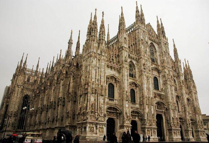 Vista exterior de la Catedral de Milán