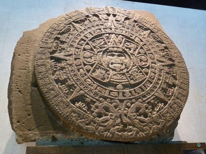 Piedra del Sol en el Museo de Antropología de México