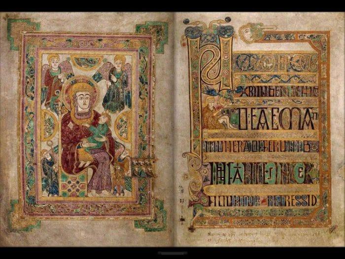 Una página del Libro de Kells