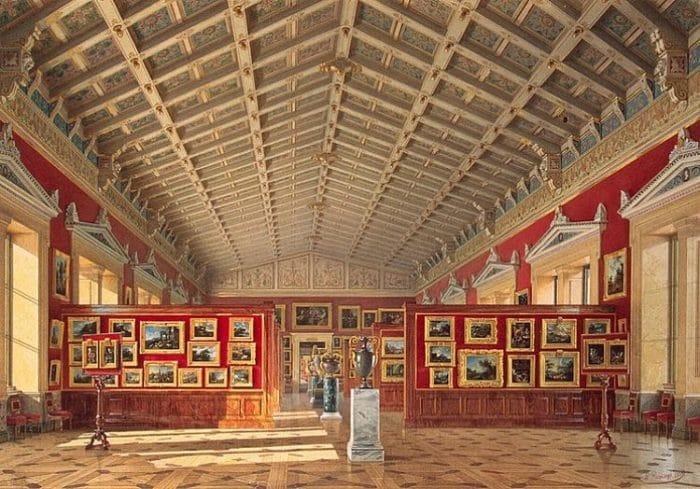 Una de las salas de colección del Museo dela Ermita en Rusia