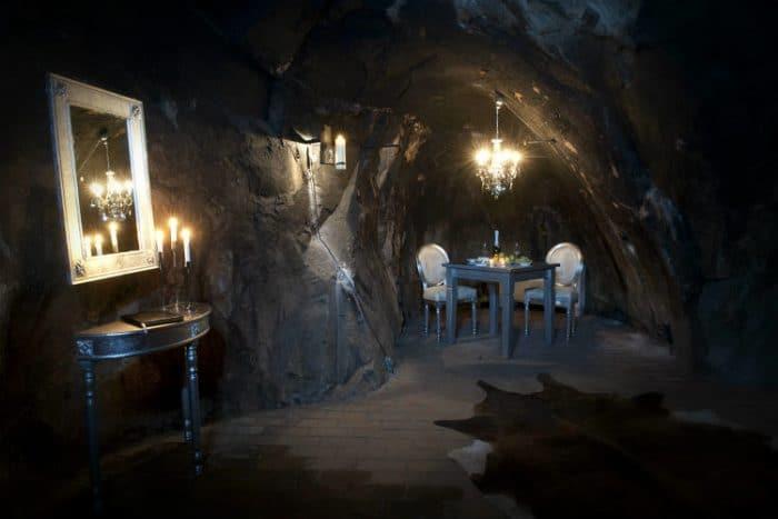 Vista de una de las excéntricas habitaciones del Sala Silver Mine