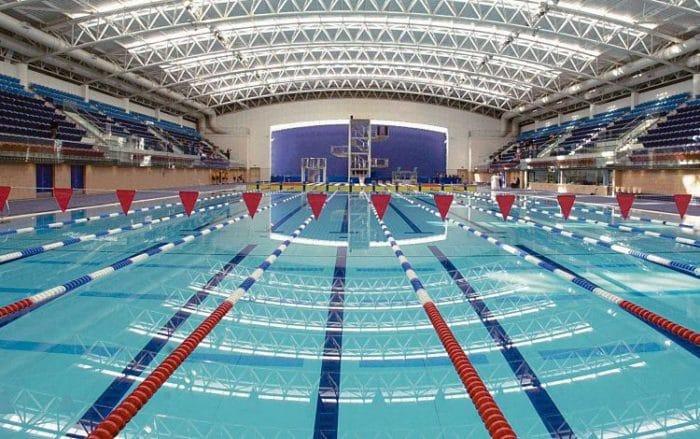 Piscina olímpica del Centro Acuático Nacional en Dublín
