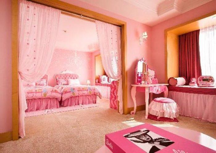 Habitación temática de Barbie en el Seúl Sheraton