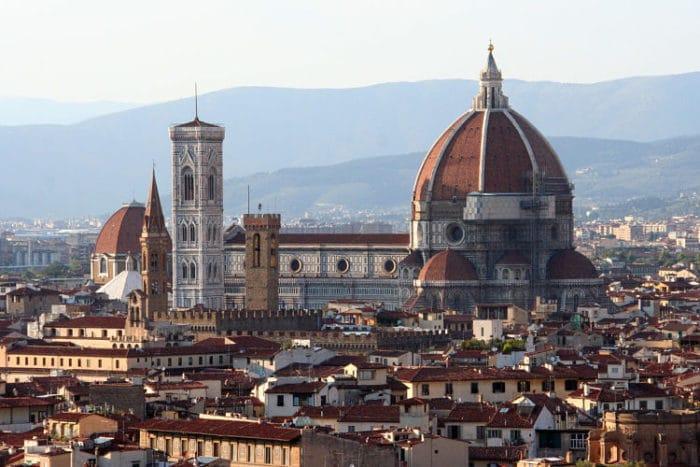 El Domo de Florencia visto desde el Piazzale Michelangelo