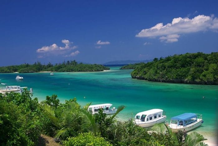 Hermosa vista de la Isla deIshigaki