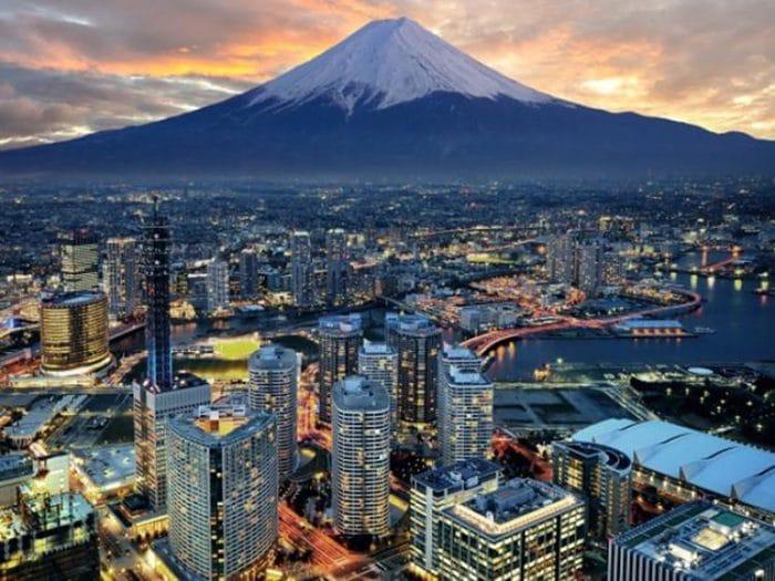 Vista panorámica de parte de Japón