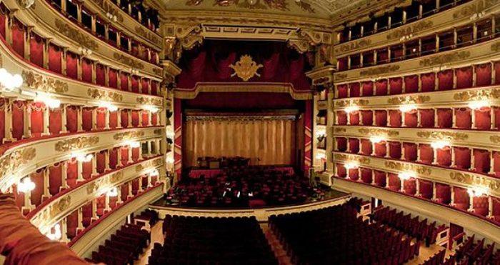 Interior de la Sala de conciertos del Teatro La Scala de Milán