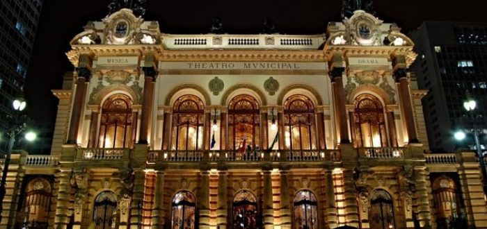 Fachada del Teatro Municipal de Sao Paulo