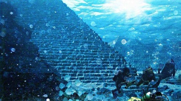 Parte de las estructuras encontradas en Yonaguni-Jima