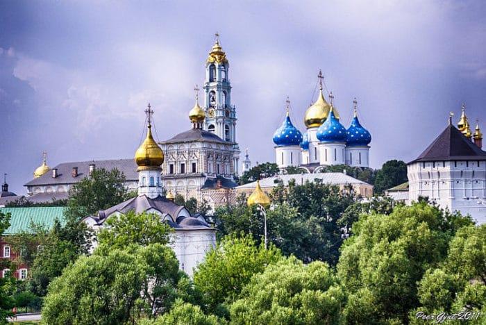 Una de las vistas de la ciudad de Sergiev Posad, parte del Anillo Dorado