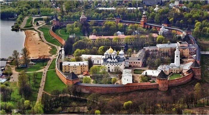 Vista aérea de Veliky Novgorod