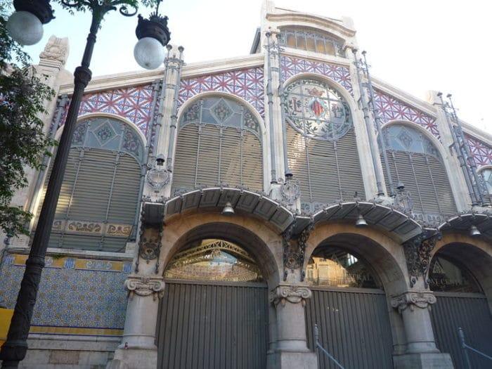 Entrada del Mercado Central de Valencia
