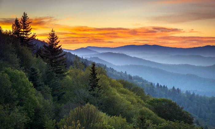 Hermoso paisaje del Smoky Mountain National Park