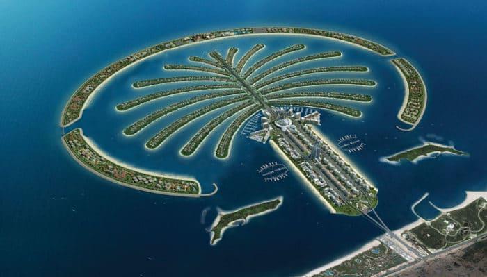 La imponente isla artificial Palma Jumeirah