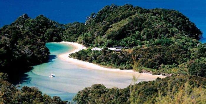 Uno de los paisajes del Parque Nacional Abel Tasman