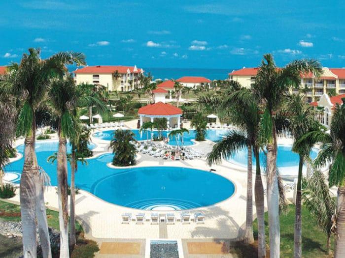 Vista del Resort Paradisus Varadero y las costas de Varadero en Cuba