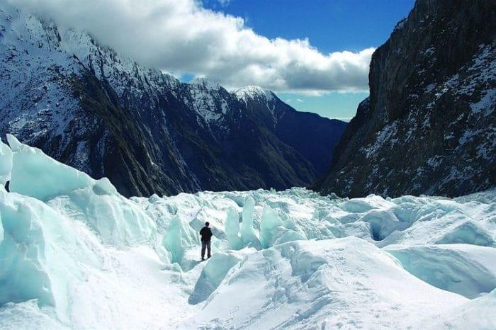 Una de las vistas del Glaciar Franz Josef