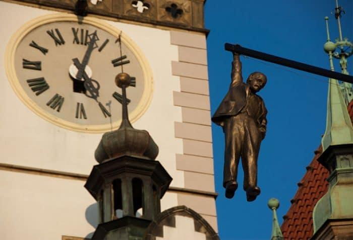 La escultura de Sigmund Freud en Praga
