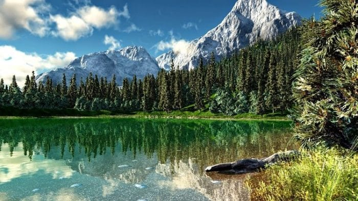 Hermoso lago en el Rocky Mountain National Park