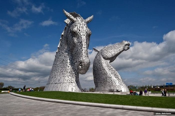 Imponente la obra The Kelpies en Escocia