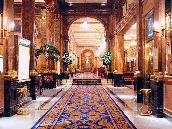 Lobby el Alvear Palace Hotel en Buenos Aires
