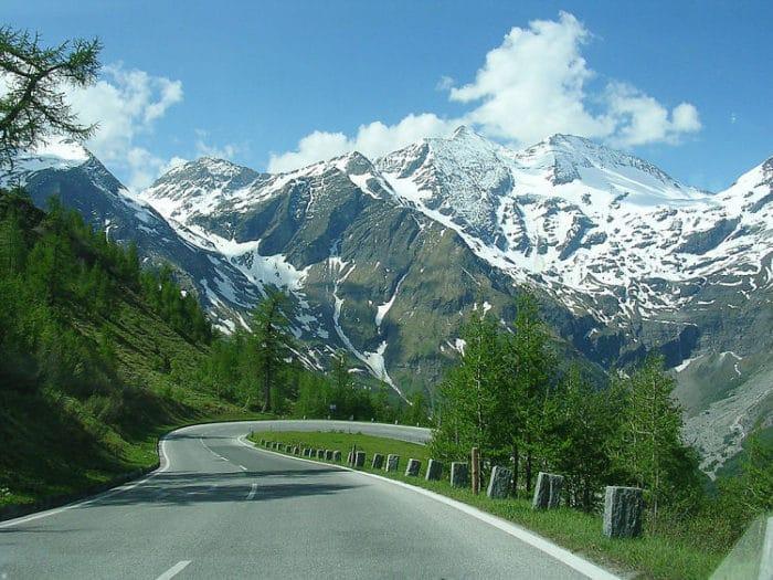 Una de las vistas desde la carretera Grossglockner