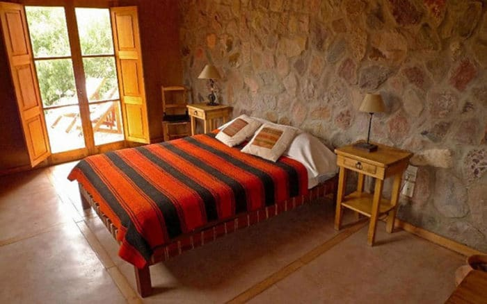 Una de las habitaciones del Hotel Cerro Chico