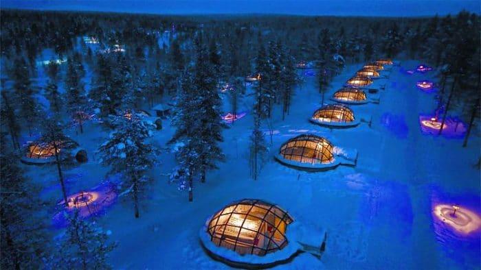 Iglúes de cristal el Kakslauttanen Arctic Resort en Finlandia