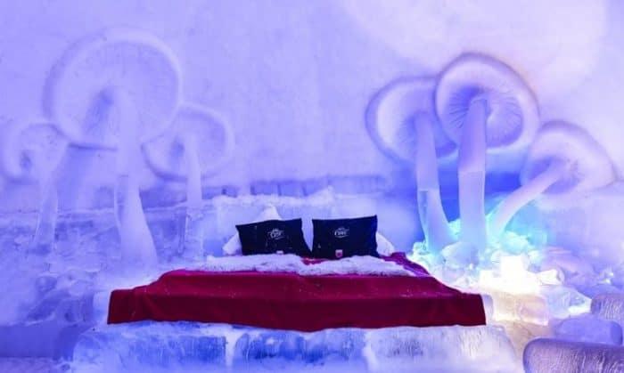 Habitación del Balea Ice Hotel en Rumania