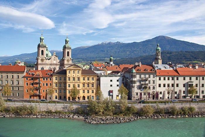Vista de la Ciudad Vieja de Innsbruck